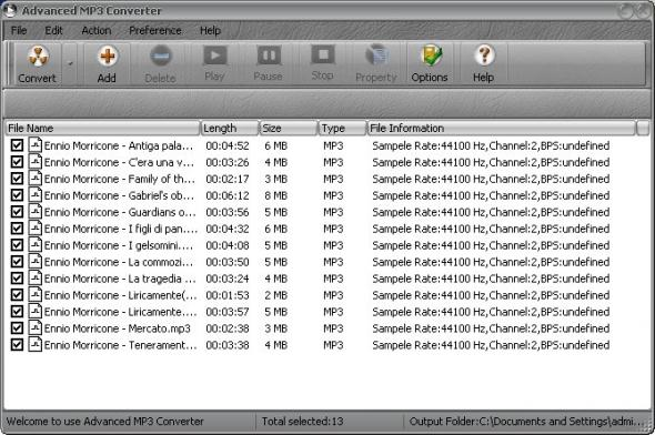 Advanced MP3 Converter 4.03